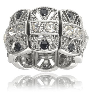 Journee Collection Brass Cubic Zirconia Stretch Ring