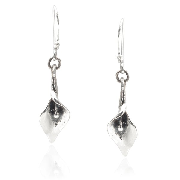 Journee Collection Sterling Silver Calla Lily Earrings