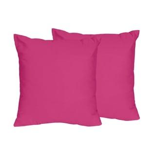 Sweet Jojo Designs Pink Throw Pillows (Set of 2)