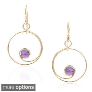 Journee Collection Sterling Silver Handmade Spiral Bead Earrings