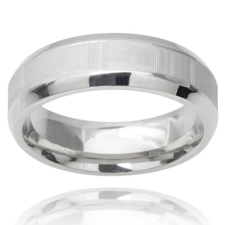Vance Co. Men's Stainless Steel Band (6 mm)