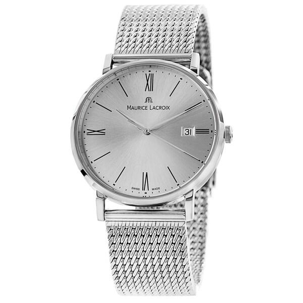 Maurice Lacroix Men's EL1087-SS002-110 'Eliros' Silver Dial Stainless Steel Bracelet Quartz Watch