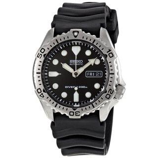 Seiko Men's SKX171K1 Divers Black Rubber Watch