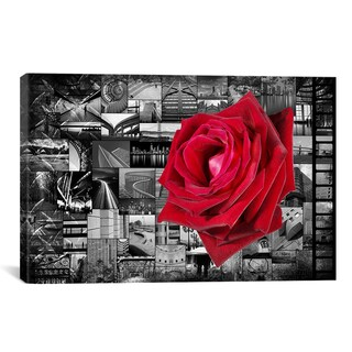 Rose In City by iCanvasART Canvas Print Wall Art