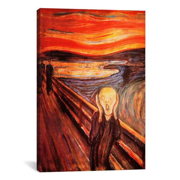 The Scream by Edvard Munch Canvas Print Wall Art
