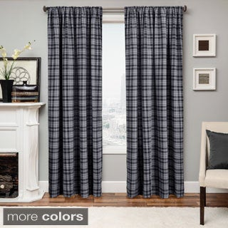 Don Check Wool Blend Curtain Panel