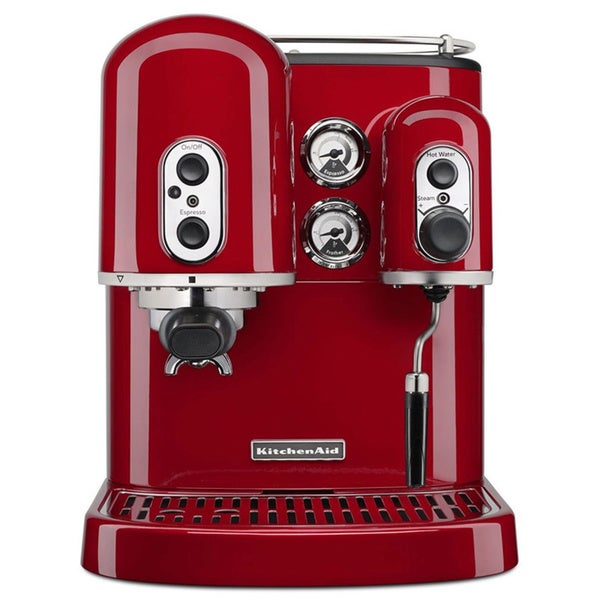 KitchenAid KES2102ER Empire Red Espresso Maker with Dual Independent Boilers