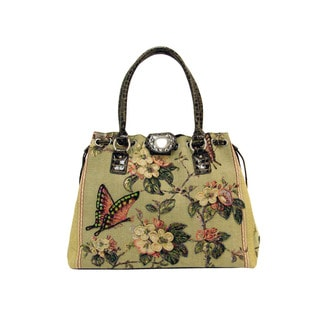 Mellow World Butterfly Hand-beaded Tote Bag