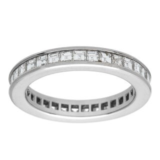 Pre-owned Platinum 2ct TDW Diamond Estate Eternity Band Ring (G-H, VS1-VS2)