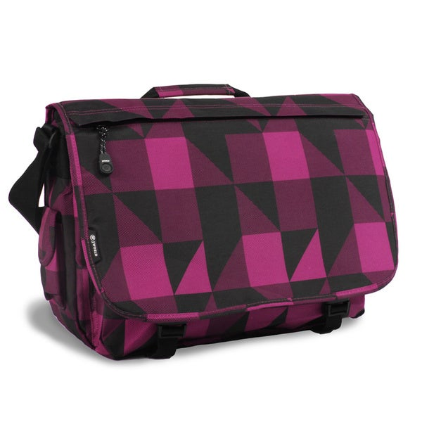JWorld New York Block Pink Thomas 17-inch Laptop Messenger Bag