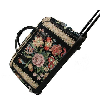 Mellow World Flower Shop Hand-beaded Carry-on Rolling Duffel