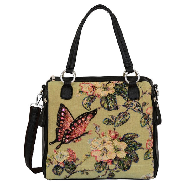 Mellow World Butterfly Tapestry Travel Tote Bag