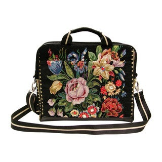 Mellow World Flower Shop Hand-beaded Vintage Laptop Carrier