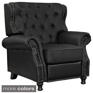 Cognac Leather Recliner