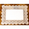 Handmade Linen and Lace Table Coasters (Set of 4)