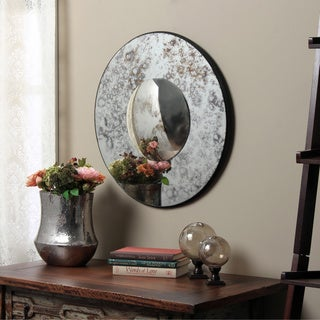 Antiqued Profile Glass Wall Mirror (India)