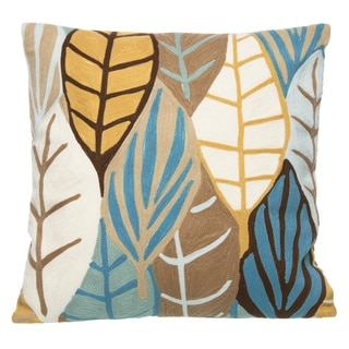 20 x 20-inch Poplar Ochre Decorative Pillow
