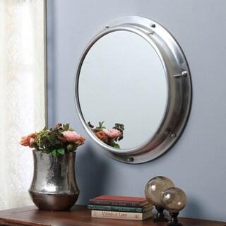 Aluminum Porthole Round Mirror
