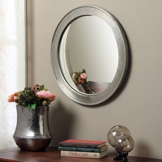 Metal Wrapped Round Convex Wall Mirror (India)