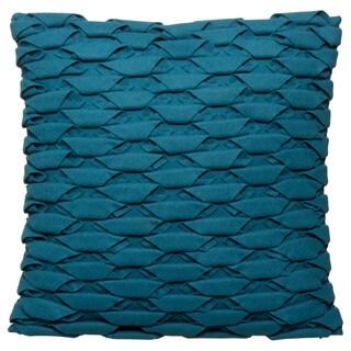 18 x 18-inch Uba ZAL-UBA Teal Decorative Throw Pillow (India)