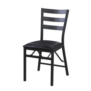 Linon Arista Folding Chair Wood Back