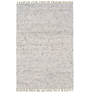 Verginia Berber Natural/ Black Area Rug (5'3 x 7'6)
