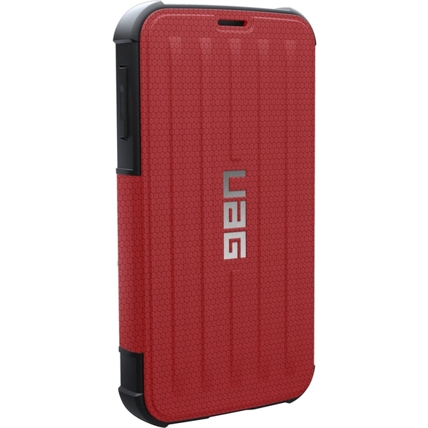 Urban Armor Gear Carrying Case (Folio) for Smartphone - Red, Black