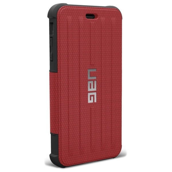 Urban Armor Gear Carrying Case (Folio) for iPhone - Red, Black