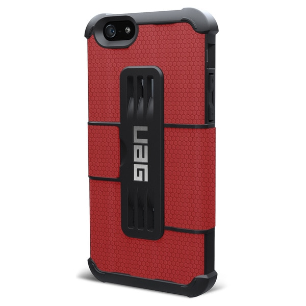 Urban Armor Gear Carrying Case (Folio) for iPhone - Red