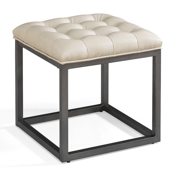 Healy Cream Mini Ottoman