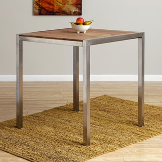 Hand-crafted Sedona Bar-height Savlage Wood Dining Table (India)