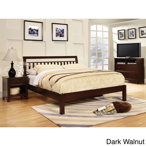 Furniture of america perillean slatted transitional for Furniture of america bed reviews