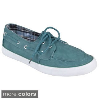 Journee Collection Women's 'Ava' Lace-up Boat Shoes
