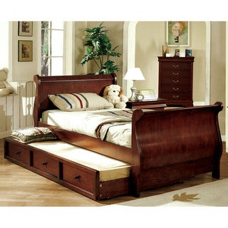 Furniture of America Nathaniel Dark Cherry Platform Sleigh Bed