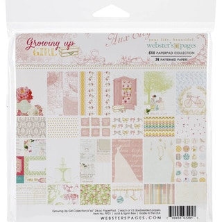 Webster's Pages Paper Pad 6inX6in 24/Pkg-Growing Up Girl