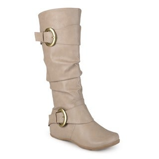 Journee Collection Women's 'Paris' Slouchy Buckle Detail Boots