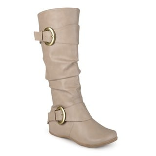 Journee Collection Women's 'Paris' Regular and Wide-calf Slouch Buckle Knee-high?? Boot