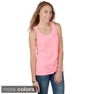 Hailey Jeans Co. Junior's Sleeveless Zipper Detail Tank Top