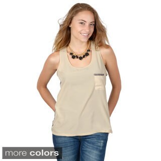 Hailey Jeans Co. Junior's Sleeveless Scoop Neck TankTop