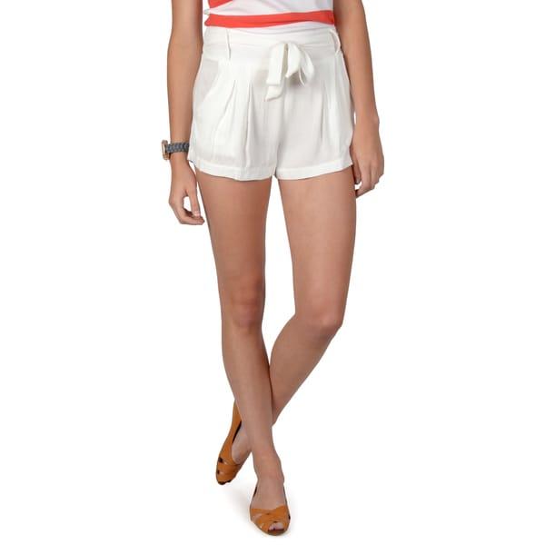 Hailey Jeans Co. Junior's Tie Accent Short Shorts