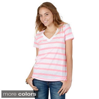 Hailey Jeans Co. Junior's Striped V-neck Top