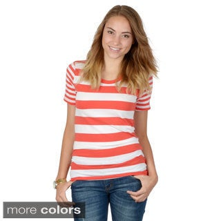Hailey Jeans Co. Junior's Striped Round Neck Tee
