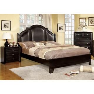 Furniture of America Crown Leatherette 3-piece Bedroom Set