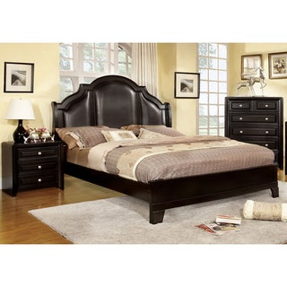 Furniture of America Jarden Crown Leatherette 2-Piece Bedroom Set