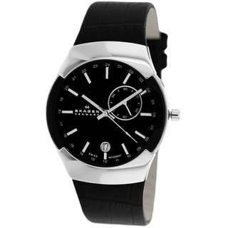 Skagen Men's 983XLSLB Black GMT Watch