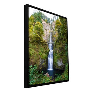 Cody York 'Multnomah Falls' Floater-framed Gallery-wrapped Canvas