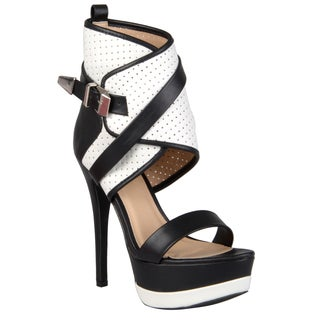 Journee Collection Women's 'Elby-1' Strappy Platform Stilettos