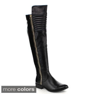 Yoki Women's 'Clydee' Over-the-Knee Riding Boots