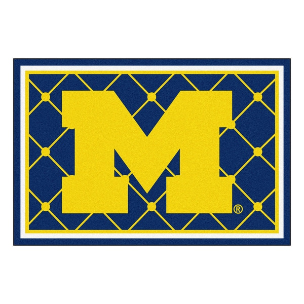 Fanmats university of michigan area rug 5 x 8 16428344 overstock