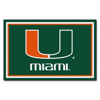 Fanmats NCAA University of Miami Area Rug (5' x 8')